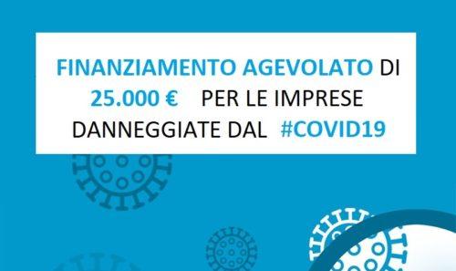 Finanziamento 25000 euro per le Imprese Danneggiate dal Covid19
