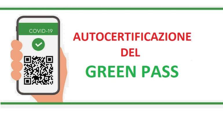 Dichiarazione Sostitutiva di Certificazione (c.d. Autocertificazione)